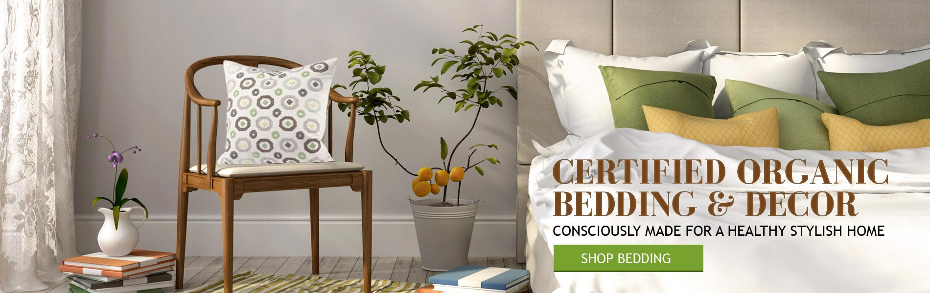 Certified Organic Bedding and Eco-Friendly Home Decor Products