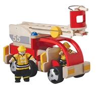 Plan Toys Eco-friendly Toy Fire Engine with Firemen
