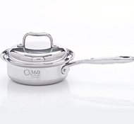 Stainless Steel 1 Quart Saucepan + Cover
