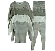 Lapsaky Kids Pajamas - Organic Cotton Long Johns