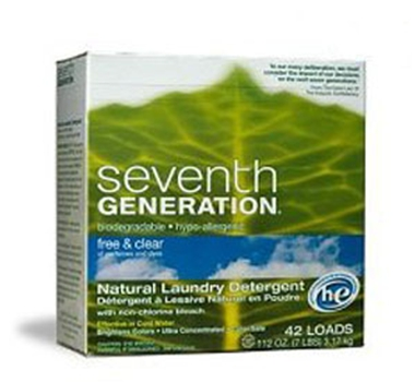 Seventh Generation Free and Clear HE Powdered Laundry Detergent