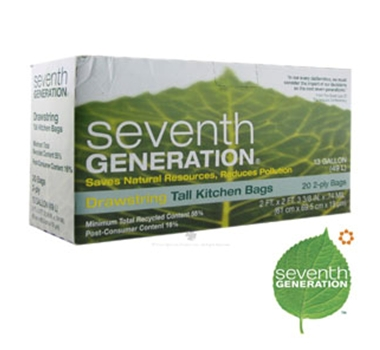 Seventh Generation 13 Gallon Recycled Kitchen Trash Bags (20 Count)