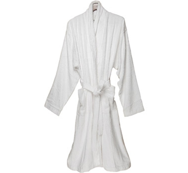 Pure Fiber Bamboo Bath Robe - Pure White