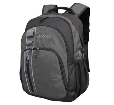 EcoGear Palila II Eco-Friendly Recycled Backpack in Charcoal