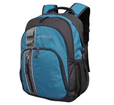 EcoGear Palila II Eco-Friendly Recycled Backpack in Aqua Blue