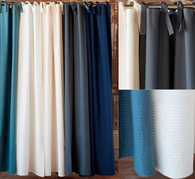 Coyuchi Organic Cotton Percale 300 TC Shower Curtains