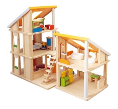 Plan Toys Eco-Friendly Chalet Dollhouse