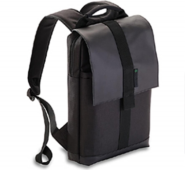 "EcoGear Recycled PET Laptop Backpack in Gaur - 13"" in Black"