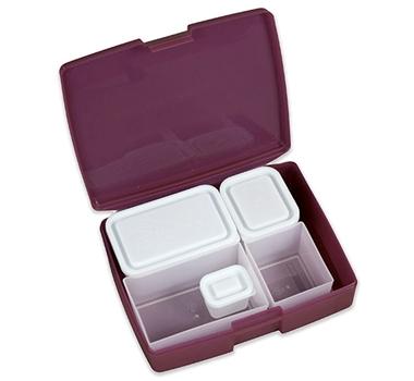 Bento Box-Classic 6 Pc. Set in Raspberry/Blue