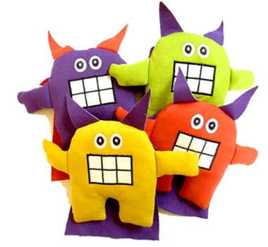 Sckoon Little Monster Collection Organic Cotton Plush Baby Toy
