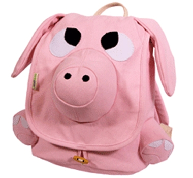 EcoZoo Cotton Kids Pig Backpack