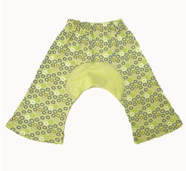 Sckoon Japonesk Collection Organic Cotton Baby Pants in Green