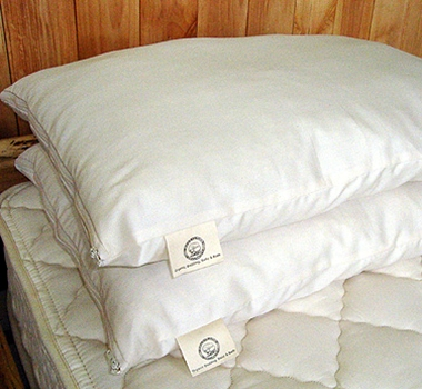 "Holy Lamb Organic Cotton & Eco Wooly ""Down"" Pillows"
