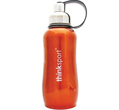 Stainless Steel Insulated Sports Bottle - 25 oz. - Metallic Orange