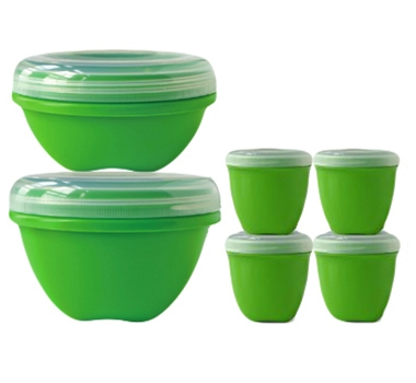 Preserve BPA-Free Food Storage Set (Includes 3 Large Containers, 3 Small Containers and 4 Mini Containers)