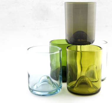 Recycled Wine Bottle Drinking Glasses - All Sizes (Set of Four $24 - $34)