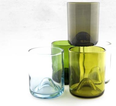 Wine punts recycled wine bottle drinking glasses 12 oz for Wine bottle glass