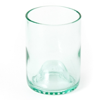 Recycled Wine Bottle Short Drinking Glasses in Aqua - 12 oz. (Case of 48)