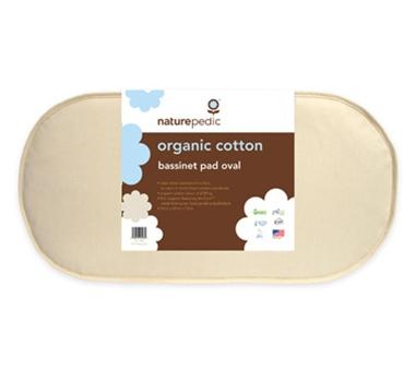 Naturepedic Organic Cotton Oval Bassinet Mattress Pads
