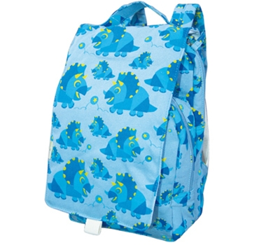 EcoGear Recycled PET Dually Lunch Tote & Backpack in Blue Dino Print