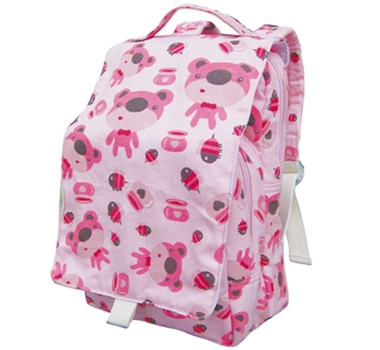EcoGear Recycled PET Dually Lunch Tote & Backpack in Pink Honey Bear Print