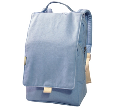 EcoGear Recycled PET Dually Lunch Tote & Backpack in Solid Blue
