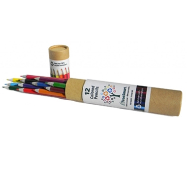"Recycled 7"" Colored Pencils in Tube (Set of 12)"