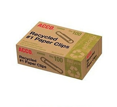 Recycled #1 Paper Clips (Box of 100)