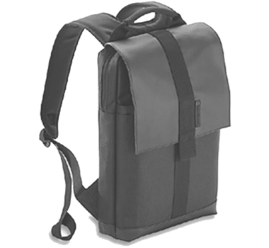 "EcoGear Recycled PET Laptop Backpack in Gaur - 13"" in Charcoal"
