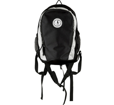 Engage Green Recycled PET Backpack in Black/Silver
