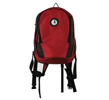 Engage Green Recycled PET Backpack in Red/Black