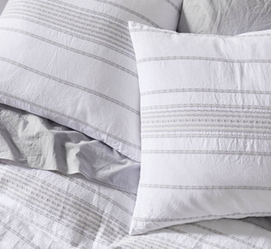Coyuchi Organic Cotton Rippled Stripe Shams