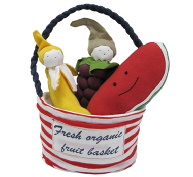 Under The Nile Organic Stuffed Toy Fruit Tote