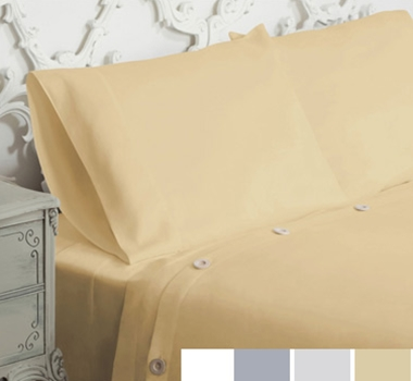 Live Good Organic Supima Cotton Sateen Duvet Covers