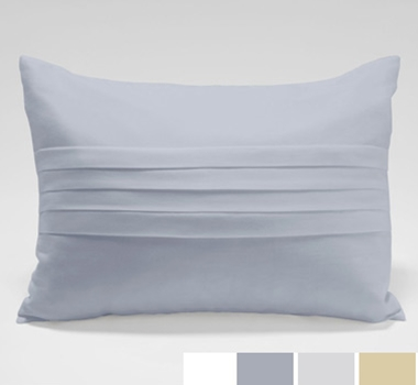Organic Cotton Center Pleated Decorative Pillows