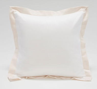 Organic Cotton Canvas Flange Pillow