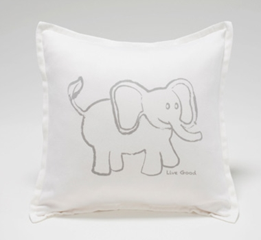 Live Good Organic Cotton Elephant Baby Decorative Pillow