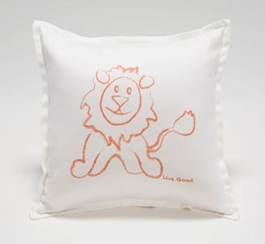 Live Good Organic Cotton Lion Baby Decorative Pillow