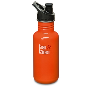 Klean Kanteen 18oz Bottle - Flame Orange