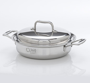 Stainless Steel 2.3 Quart Casserole Pot + Cover