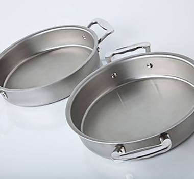 "Stainless Steel 9"" Cake Pan"