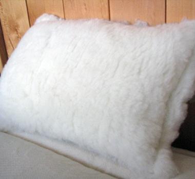 Holy Lamb Organics Eco-wool Fleece Throw Pillow