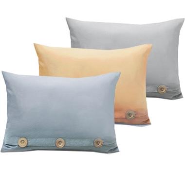 Live Good Organic Cotton Three Button Closure Pillow