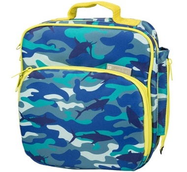 Bentology Insulated Lunch Tote with Side Pocket - Shark Camo