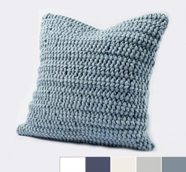 Coyuchi Organic Cotton Woven Rope Decorative Pillow