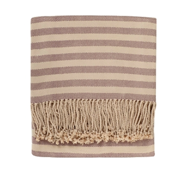 Bamboo Viscose Throw - Striped