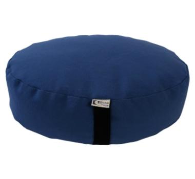 Oval Zafu Yoga Meditation Cushion With Organic Buckwheat Fill In Blue