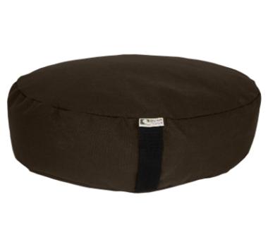 Oval Zafu Yoga Meditation Cushion With Organic Buckwheat Fill In Brown