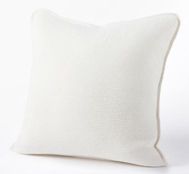 Coyuchi Organic Cozy Cotton Decorative Pillow In Alpine White