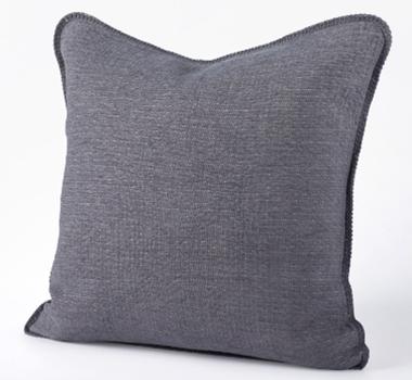 Coyuchi Organic Cozy Cotton Decorative Pillow In Charcoal